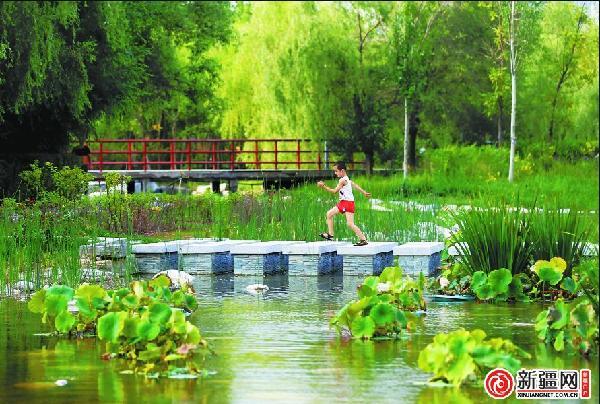 乌鲁木齐南湖广场添水景