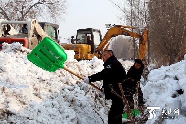 乌鲁木齐市水磨沟区清积雪防春洪